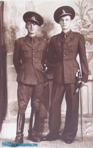 Bilae si fratele Gheorghe la Scoala militara2