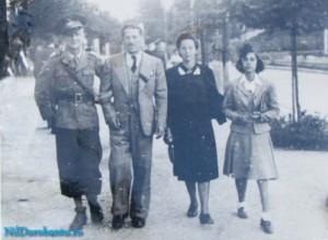 De la stanga la dreapta Bilae, Ion si Paulina cu fata generalului Rodica1