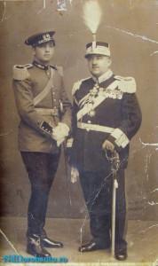 Generalul Dorobantu cu unul din fiii sai Narcis ucis in Ucraina